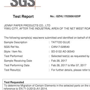 certifikát k zakázkové výrobě tetovaček