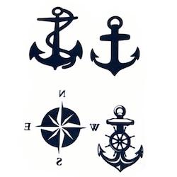 originální námořnické tetovačky na party