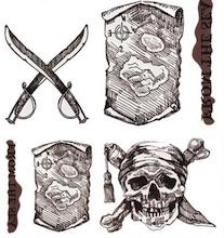 originální tetovačky s pirátskými a rebelskými motivy